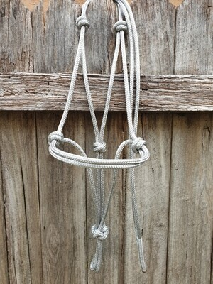 Silver Rope Halter