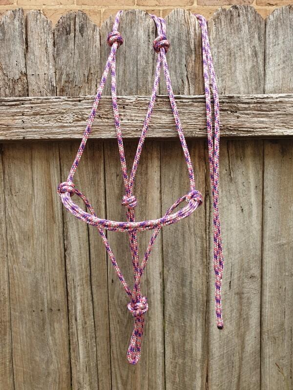 Pink/Purple/Silver Rope Halter