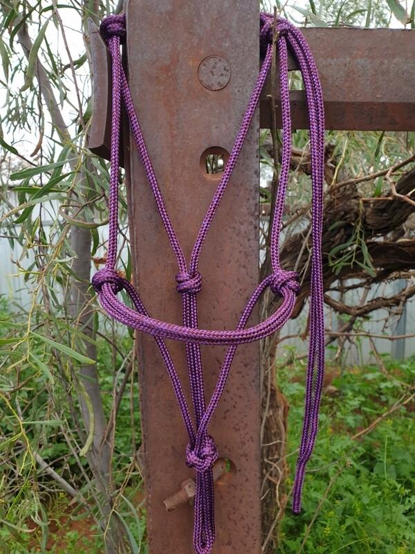 Plum Rope Halter
