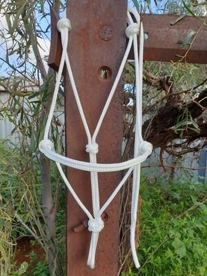 White Rope Halter