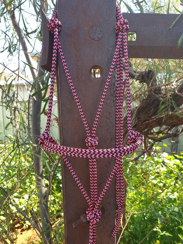 Pink/Black Zig Zag Rope Halter