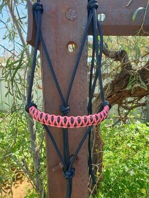 Drakon Pink/Black Rope Halter
