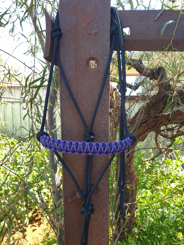 Drakon Purple/Black Rope Halter