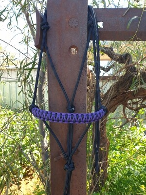 Drakon Purple/Black Rope Halter