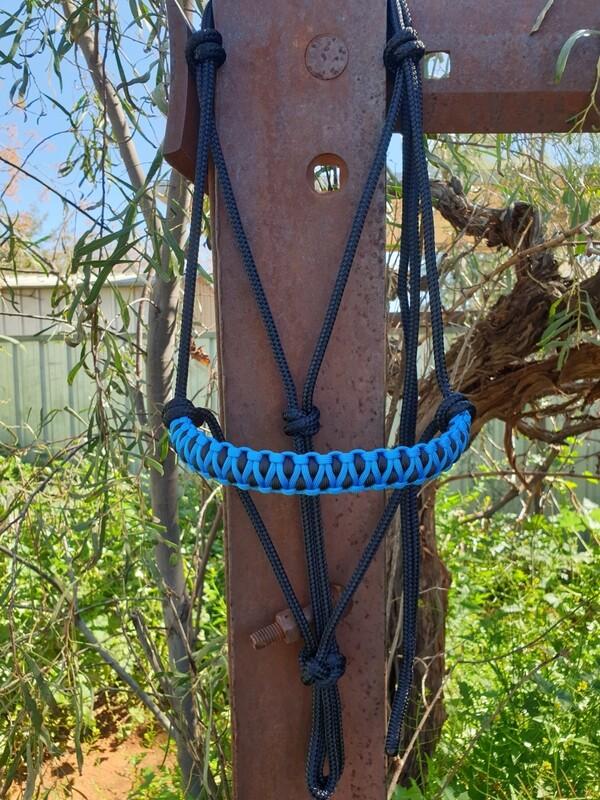 Drakon Blue/Black Rope Halter