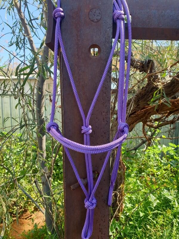 Purple Rope Halter