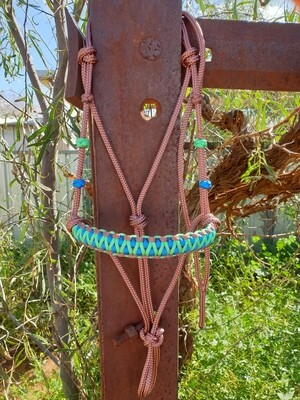 Drakon Brown/Mint/Blue Rope Halter