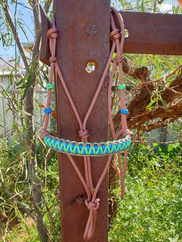 Drakon Brown/Mint/Blue Rope Halter