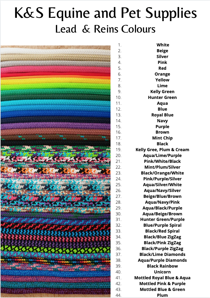 Rope Reins- All Colours.