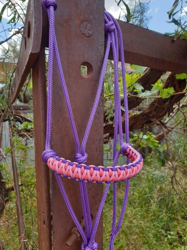 Drakon Purple/Pink/Rose Pink Rope Halter