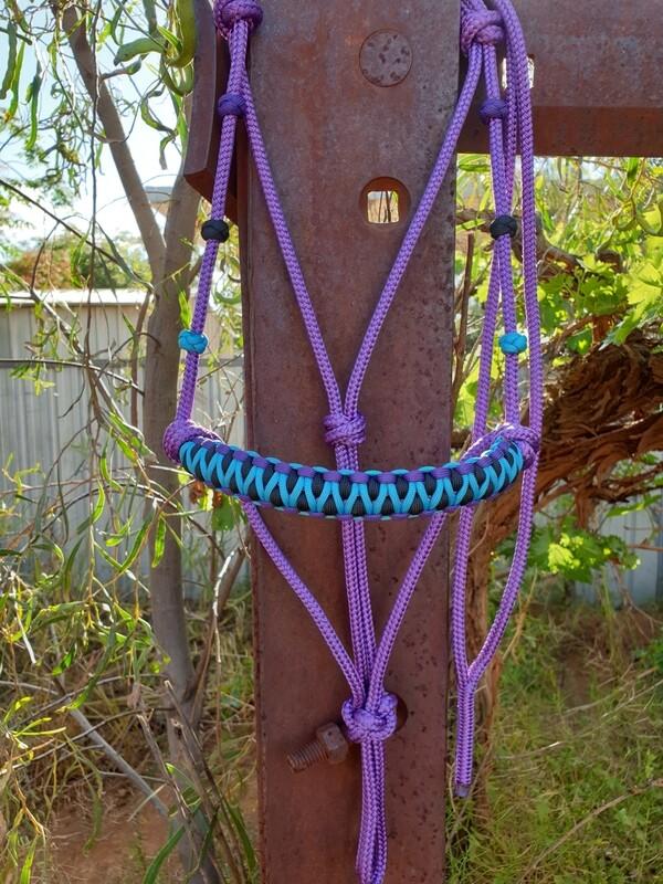 Drakon Purple/Aqua/Black Rope Halter