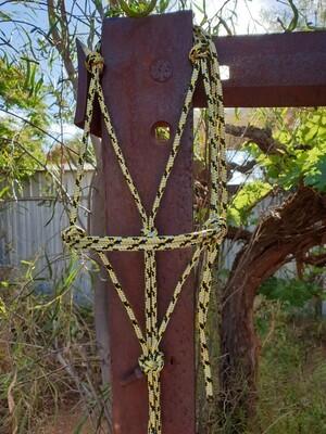 Yellow/Silver/Black Rope Halter