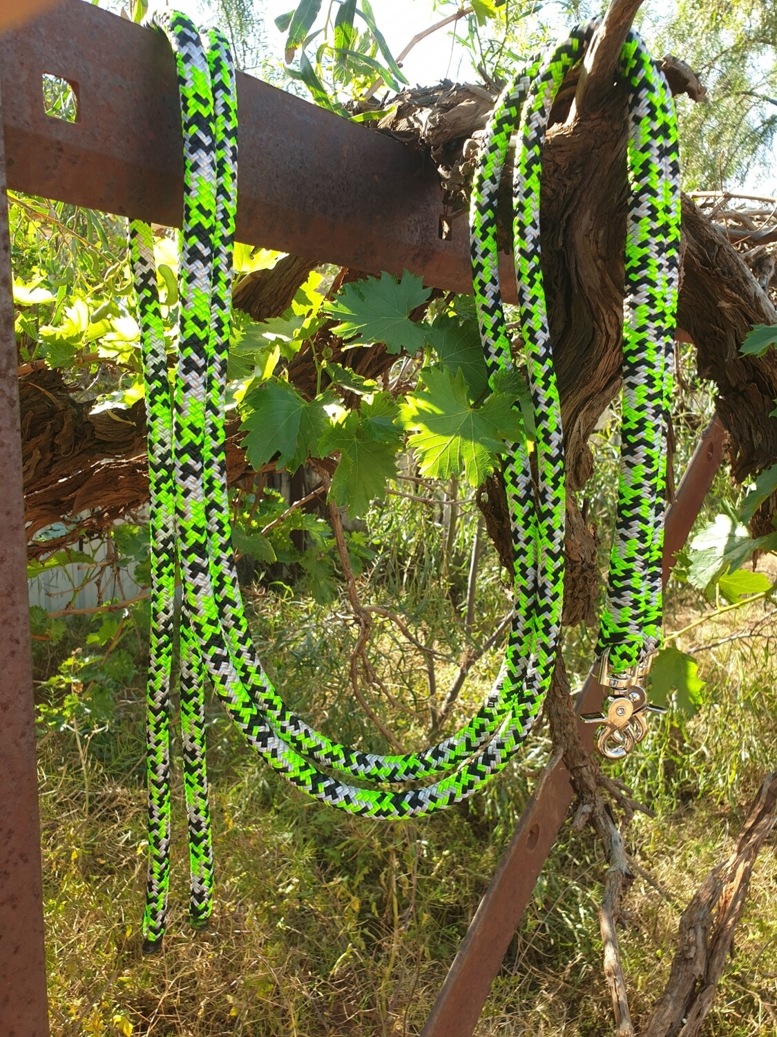 Lime/Silver/Black Rope Reins