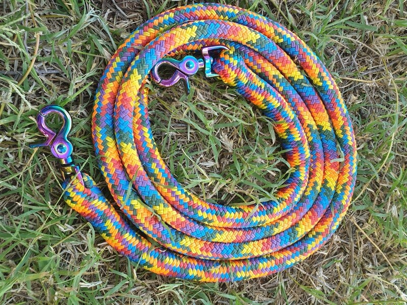 Bright Rainbow-6ft Joined Reins