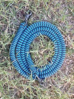 Blue/Black ZigZag- 6ft Joined Reins