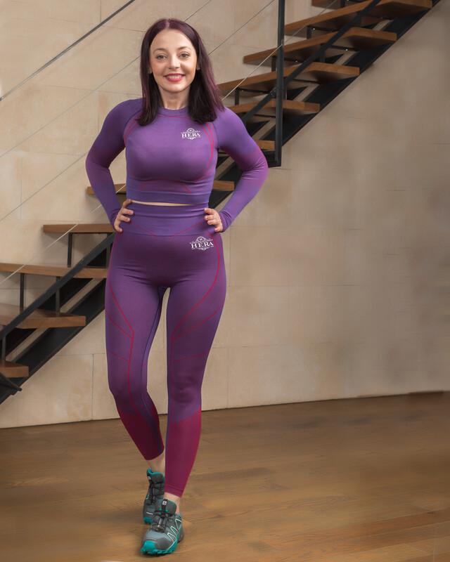 ANNEA SEAMLESS SPORTS CROP TOP Purple