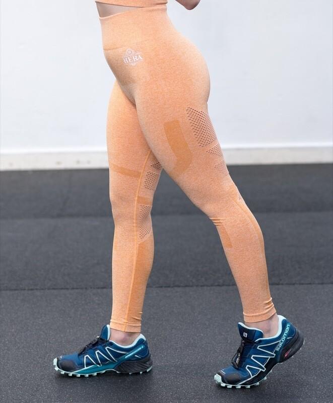 NESSA Seamless Leggings Light Orange