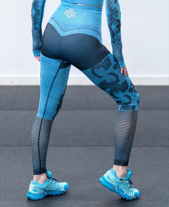 AXONA Seamless leggings Navy Blue Camo