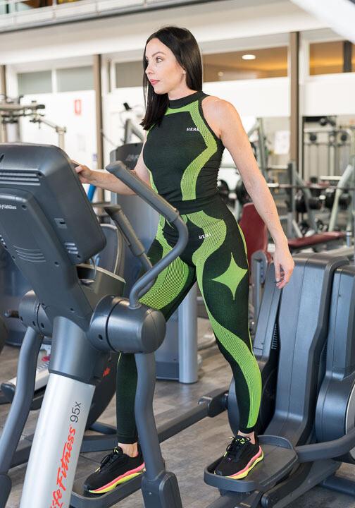 Beline leggings | Black & Green