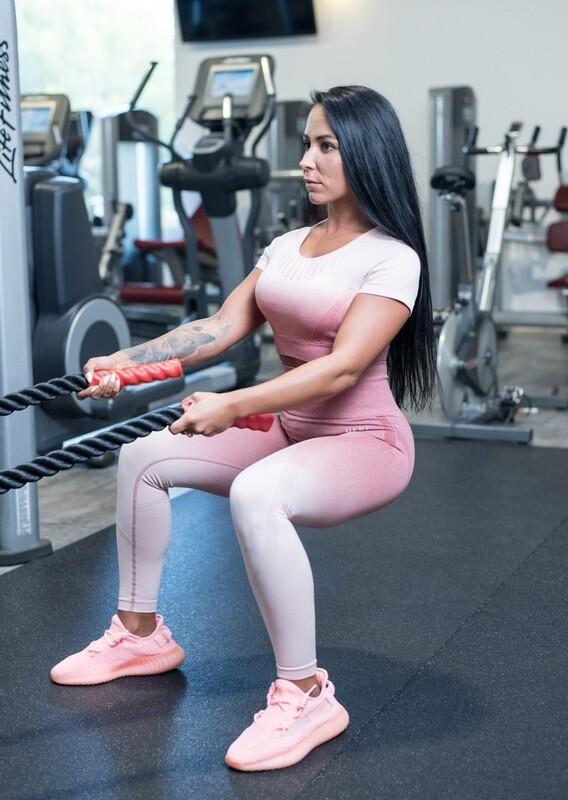 Artemis Leggings | Gradient Light Pink
