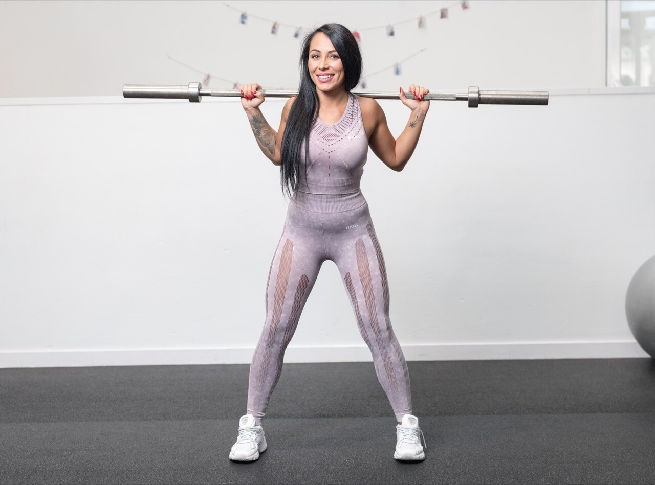 NAVIA leggings strategic cut panels   Lavender