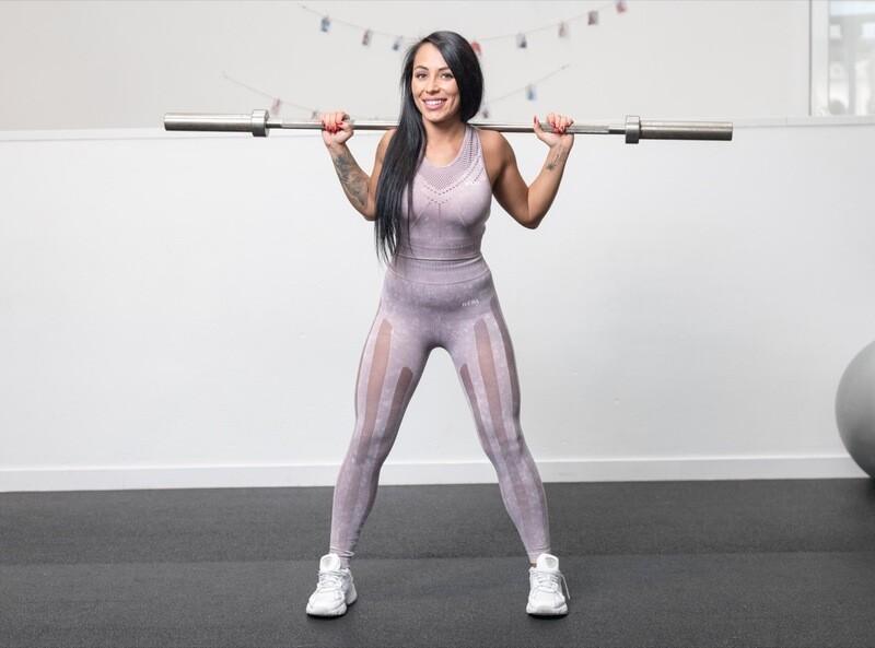 NAVIA leggings strategic cut panels | Lavender