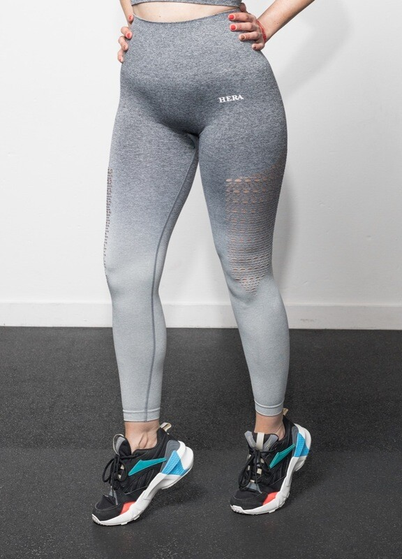 ALA push up Leggings | gradient Grey&White