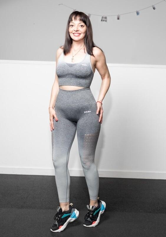 ALA Sports Bra | gradient Grey&White