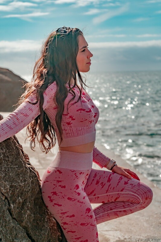 AZIZA Seamless Top | Rosa