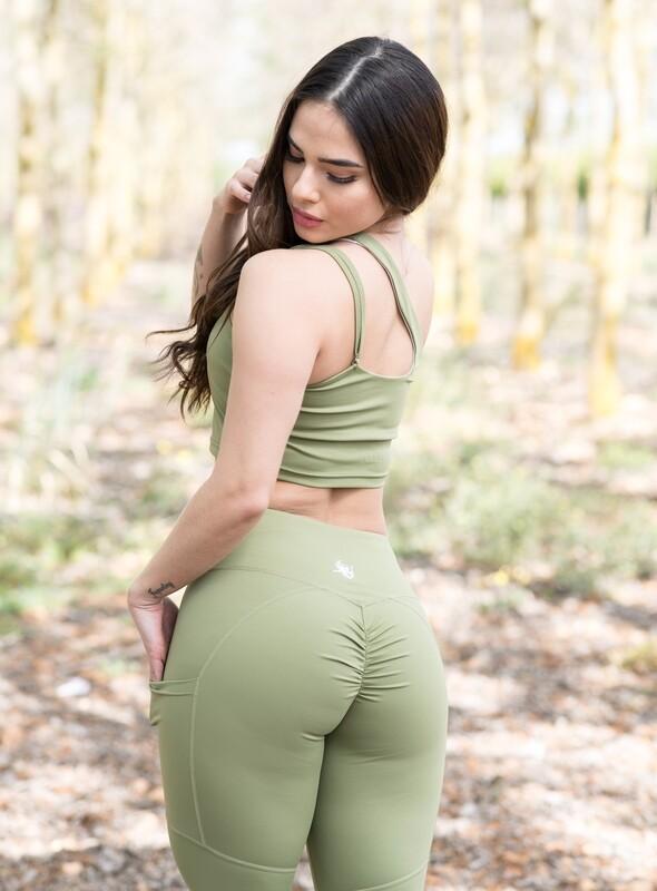 Gyda Leggings double butt-lifting impact | Light Green