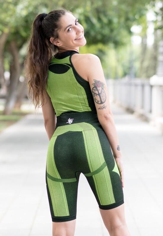 Beline top | Black & Green