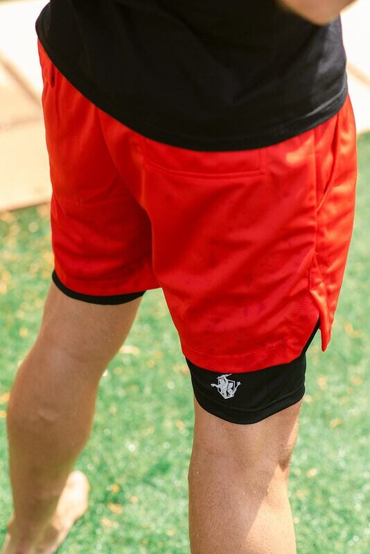 CENEO 2 IN 1 SHORTS   Red
