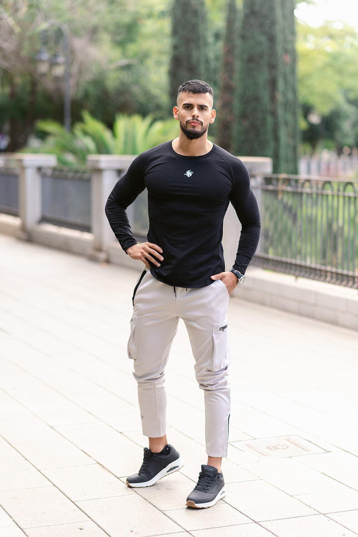 HERACLES Long Sleeve T-Shirt   Black