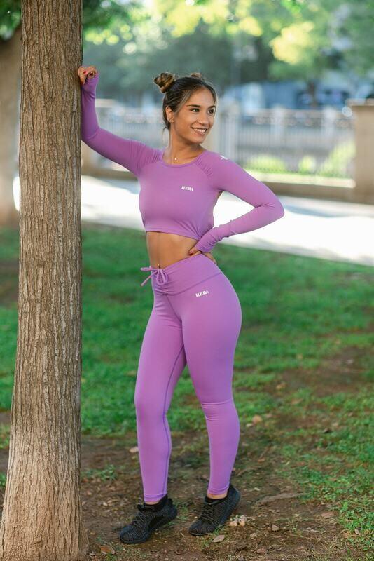 Gracia Scrunch Legging | Purple