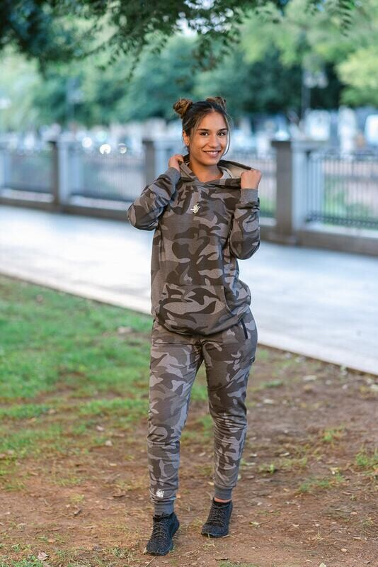 DIONISO 2 units set Hoodie & Pants | Grey Camo