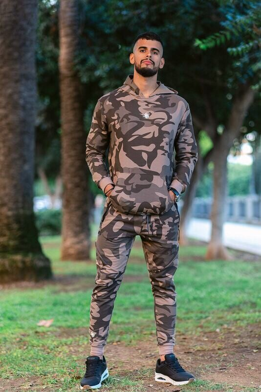 DIONISO 2 units set Hoodie and joggers | Brown Camo