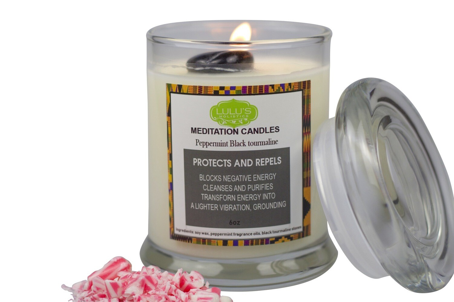 PEPPERMINT BLACK TOURMALINE CANDLE