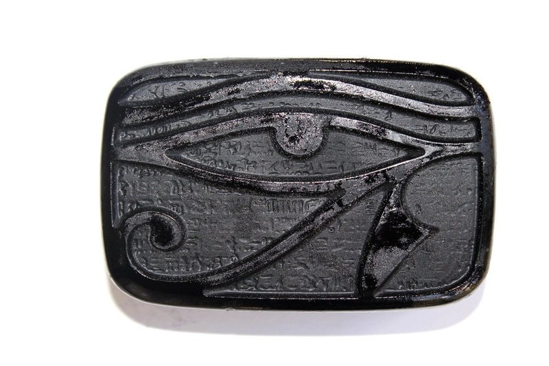 EYE OF HORUS CHARCOAL -COCONUT-PEPPERMINT-SOAP