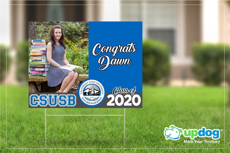 CSUSB Yard Sign