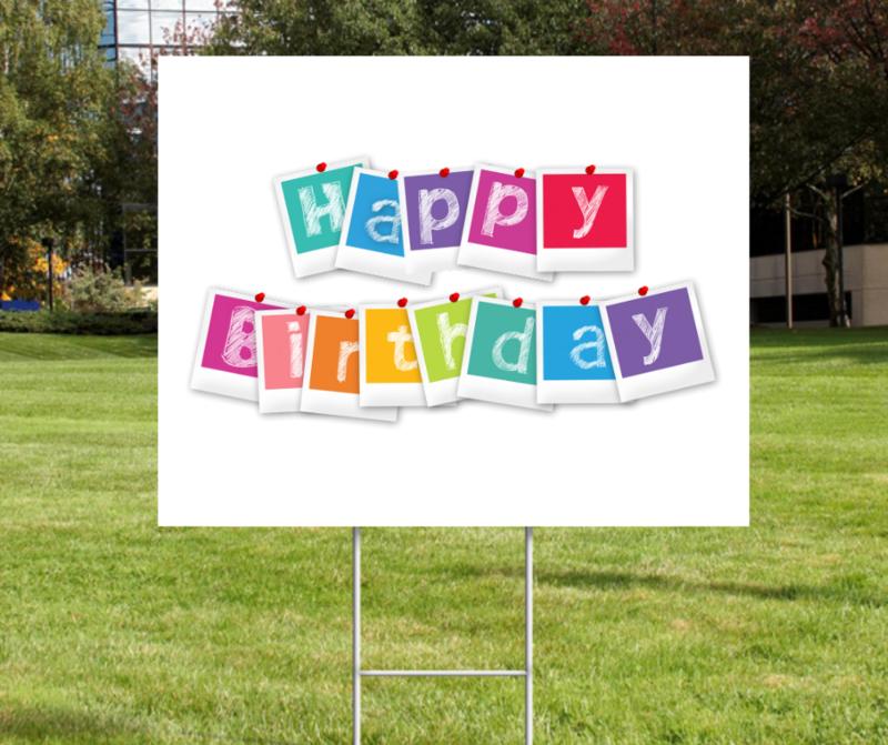 Happy Birthday Yard Sign - CUSTOM