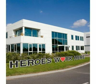 Heroes Work Here Yard Cards