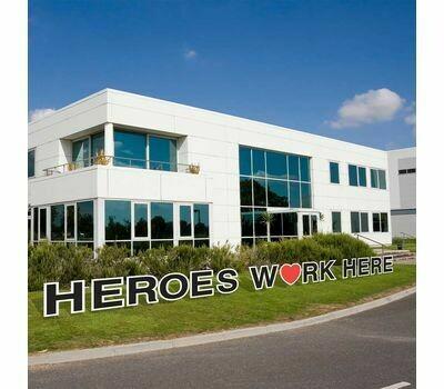 Heroes Work Here Yard Cards