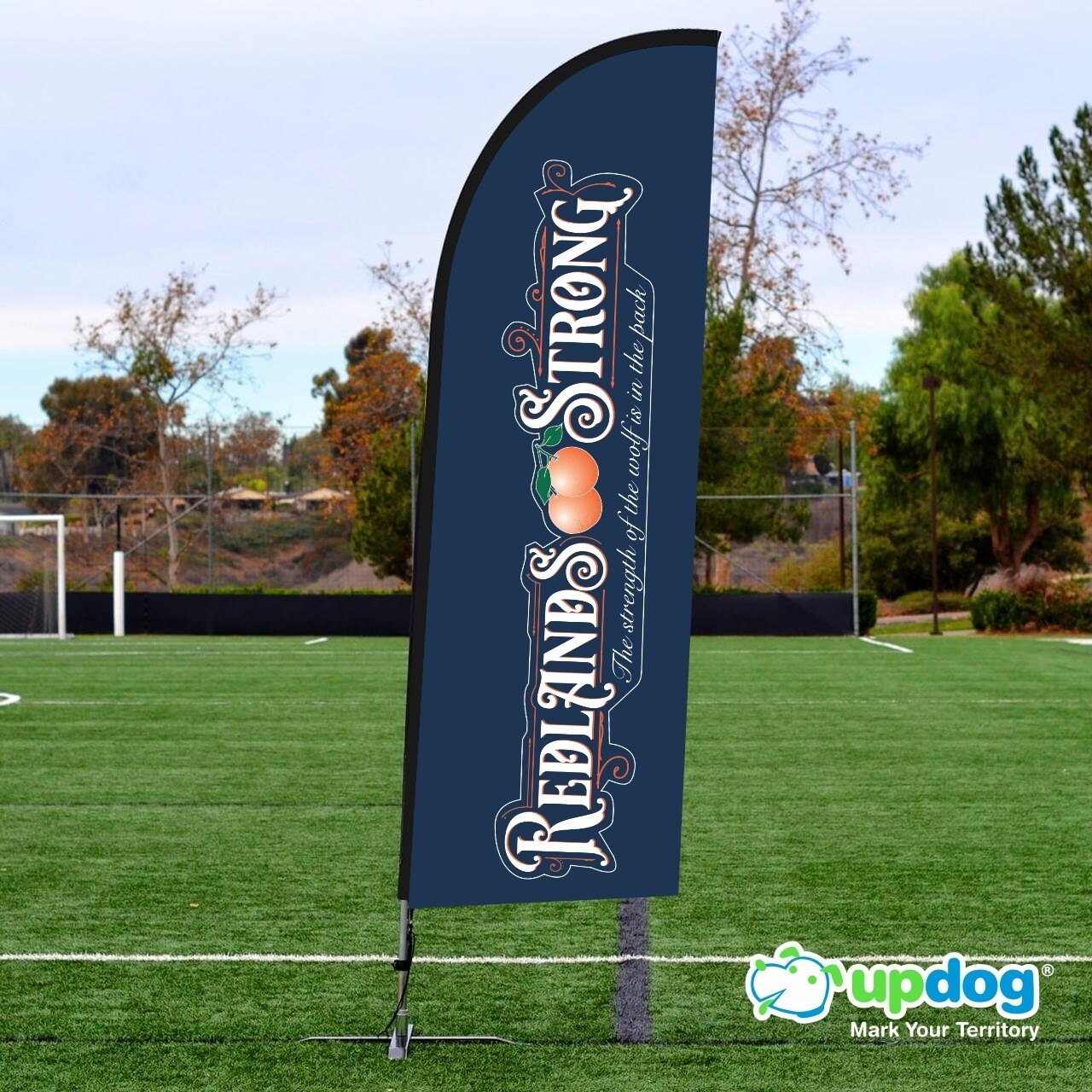 Redlands Strong Feather Flag