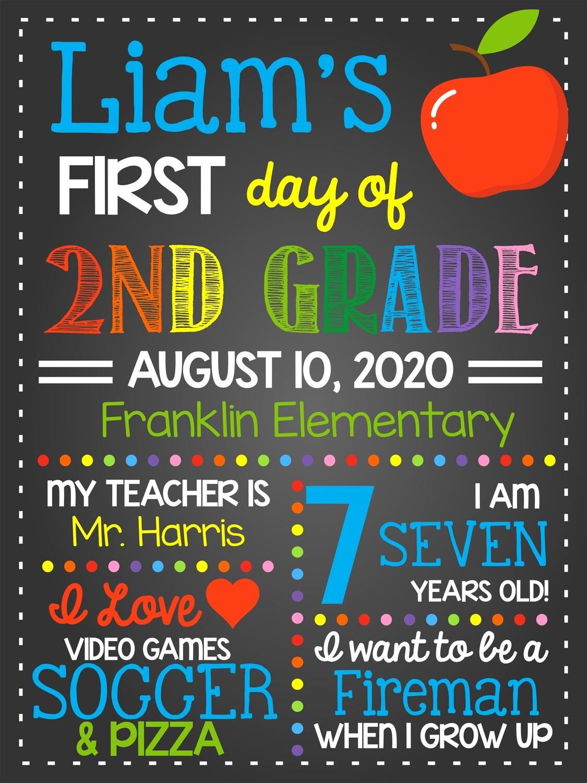 First Day of School - Boy
