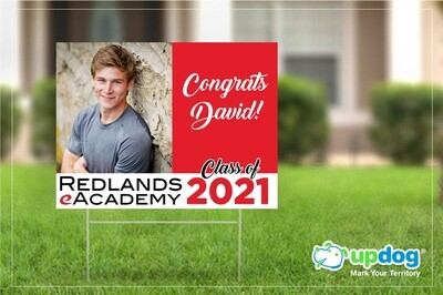 Redlands eAcademy Graduation Yard Sign