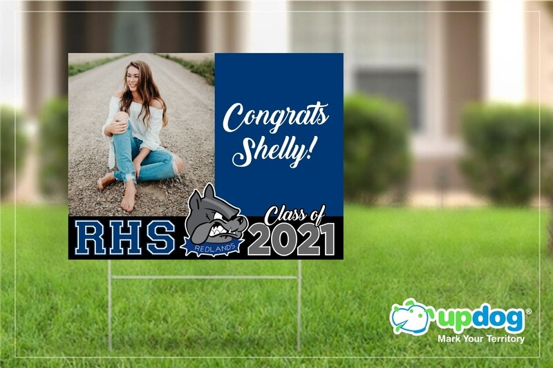 Redlands High School Graduation Yard Sign