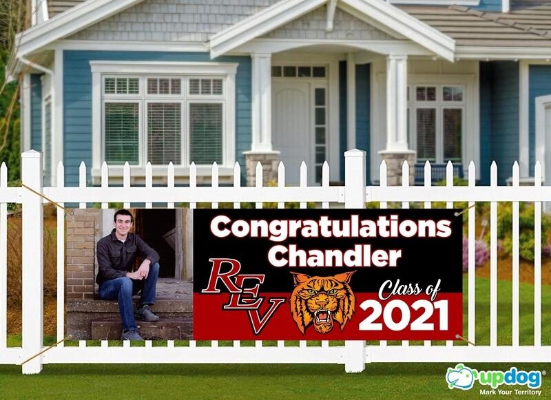 Redlands East Valley (REV) High School Graduation Banner