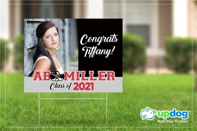 AB Miller Graduation Yard Sign