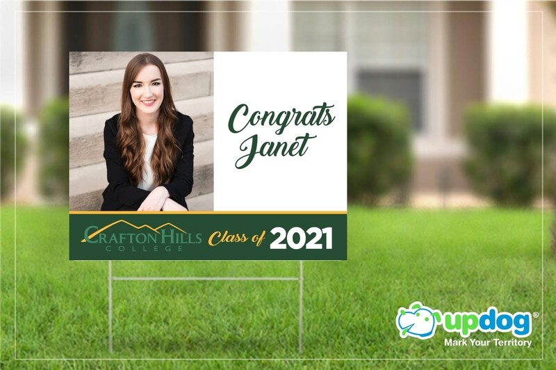 Crafton Hills College Graduation Yard Sign
