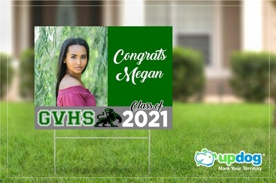 Green Valley High School Graduation Yard Sign
